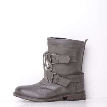 Ravel Buckle Grey Leather Boot