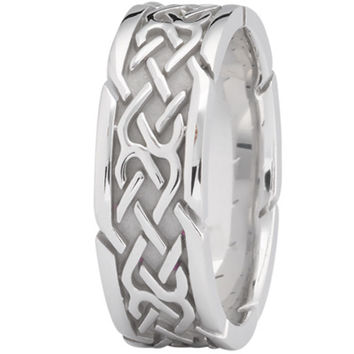 Wedding Band - Tire Tread Mens Wedding Ring