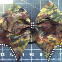 Tree Camo with BLING cheer bow