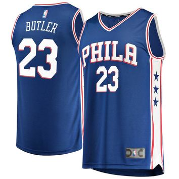 Men's Philadelphia 76ers Jimmy Butler Fanatics Branded Red Fast Break Swingman Jersey – Icon Edition - Best Deal Online