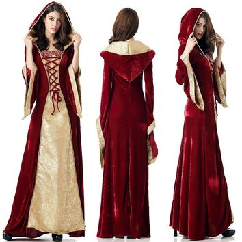 Women's Renaissance Medieval Cotton Costume Pirate , Goth,BoHo Dress - Performance & Stage Wear