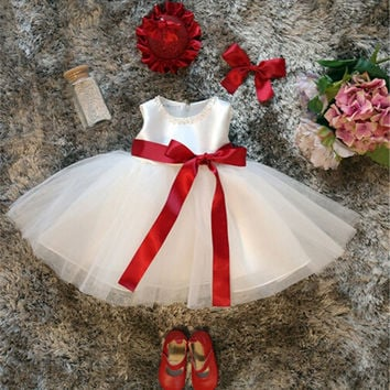 White Dress For Girl Baptism Clothes 1 Year Baby Girl Birthday Dress Tutu Princess Kids Wedding Dresses For Girl Toddler Clothes