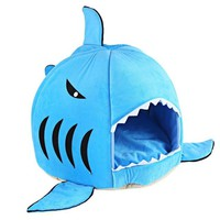 Cartoon Shark Shape Cat Bed