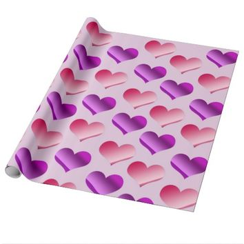 Bunches of Hearts Wrapping Paper