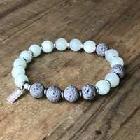 Amazonite Essential Oil Diffuser Bracelet