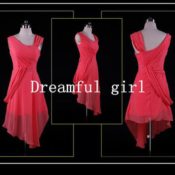 Big discount for Summer evening dress or prom dress chiffon straps pleated 112