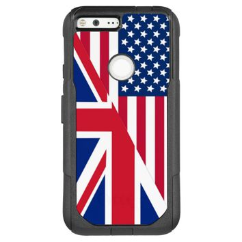 American and Union Jack Flag OtterBox Commuter Google Pixel XL Case