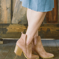 Ellie Cut Out Bootie in Blush