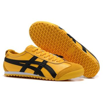 yellow original Onitsuka Tiger Asics men women sneakers unisex sports shoes 2018