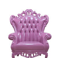 POLaRT Indoor/Outdoor King Chair - Fuscia All Outdoor Plastic