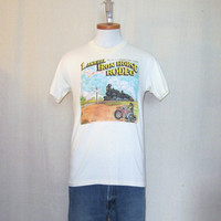 Vintage 1992 IRON HORSE MOTORCYCLE Rodeo Train Graphic Hanes Small Medium Soft 50/50 T-Shirt