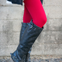 Slimming High Waisted Fleece Leggings - Multiple Colors - Plus Size!