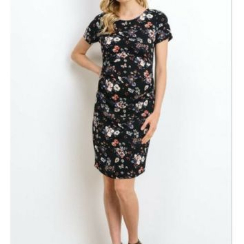 Maternity Floral Work Dress