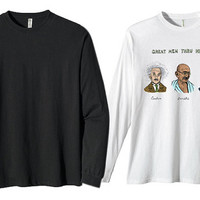kanye west, great men thru history for long sleeves heppy fit & sizing standart us