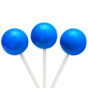 Paintball Pops Giant Jawbreaker Suckers - Blue: 12-Piece Bag