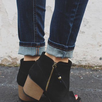 Start the Fire Booties - Black