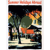 Summer Holidays Abroad Wood Sign