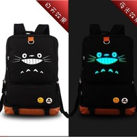 Cartoon Luminous Anime Totoro Emoji Backpack