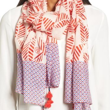 Tory Burch Palmetto Wool Scarf | Nordstrom