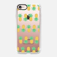 Pineapple Stripes Transparent iPhone 7 Case by Lisa Argyropoulos | Casetify