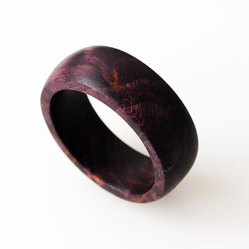 Wood ring, Stabilized wood, Stabilized wood ring, Purple ring, Birch wood ring, Wooden rings, Wood jewelry, Wooden ring, Wedding rings