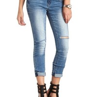 "REFUGE MEDIUM WASH ""BEST BOYFRIEND"" JEANS"