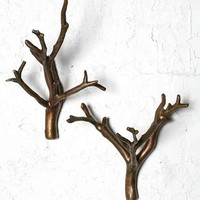 Branch Hook - Set Of 2- Bronze One