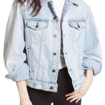 Free People Paisley Quilted Denim Jacket | Nordstrom