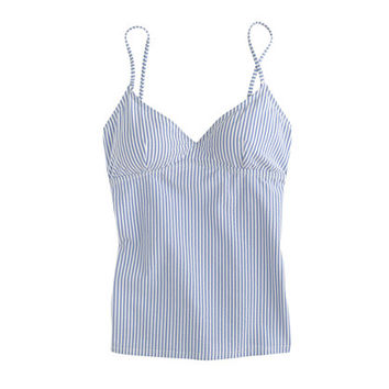 J.Crew Womens Seersucker Swing Tankini Top