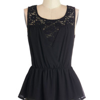ModCloth Mid-length Tank top (2 thick straps) Peplum Wine Country Concert Top