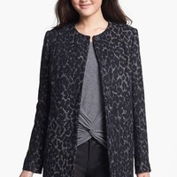 Kenneth Cole New York Collarless Animal Jacquard Jacket | Nordstrom