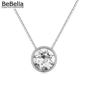 BeBella new small XIRUS Chaton stone pendant necklace made with Swarovski Elements with thin chain popular Mother's Day gift