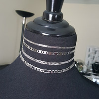 Choose your Choker Necklace - Stainless Steel Non Tarnishing Chain