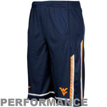Nike West Virginia Mountaineers Youth Tourney Performance Basketball Shorts - Navy Blue - http://www.shareasale.com/m-pr.cfm?merchantID=7124&userID=1042934&productID=520879074 / West Virginia Mountaineers