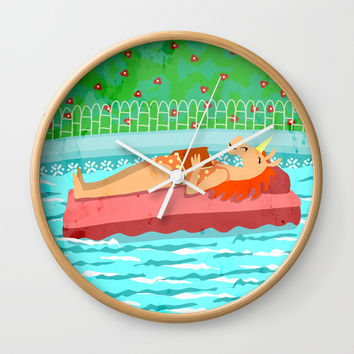 Pool Time Unicorn Wall Clock by That's So Unicorny