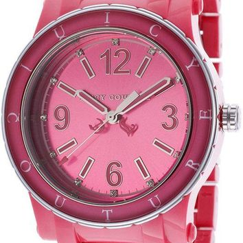 Juicy Couture HRH Hot Pink Acrylic Watch 1900804