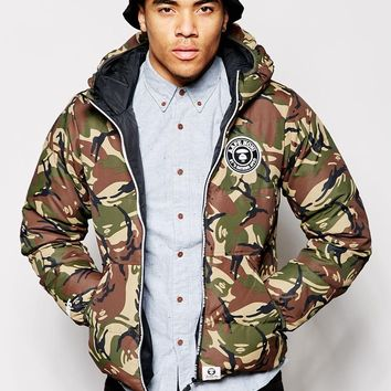 AAPE By A Bathing Ape Padded Jacket In Camo Print