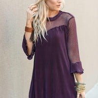 Frilled Sweetheart Long Sleeve Dress