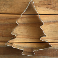 """Large Tree Cookie Cutter 5"""" Camping Christmas"""