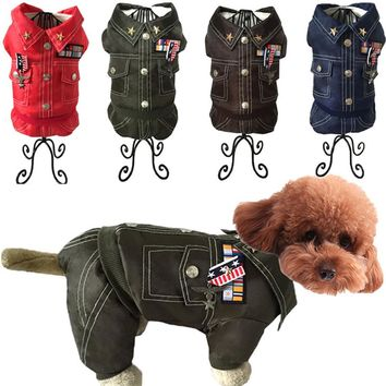 Pet Puppy Small Cat Clothes Costume Jacket Winter Waterproof General Army Thick Dog Clothes For Small Dogs Roupa Cachorro Man