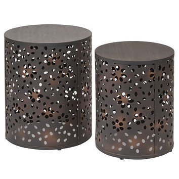 Spectrum Set of 2 Cut Pattern Drum Tables