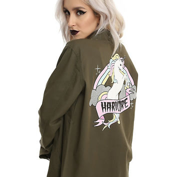 Hardcore Unicorn Girls Military Jacket