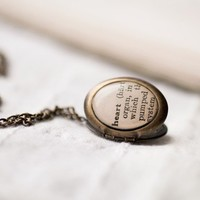 Heart Dictionary locket  Free Worldwide shipping  by beautyspot