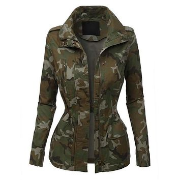 First in Command Cargo Jacket Camo