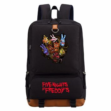 WISHOT  at  Gold Freddy backpack Anime casual bag teenagers Men women's School Bags travel Backpacks Laptop