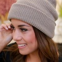 Snow Day Beanie - Taupe