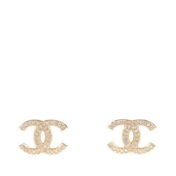 KC Luxury Classic Gold Earrings With Crystals