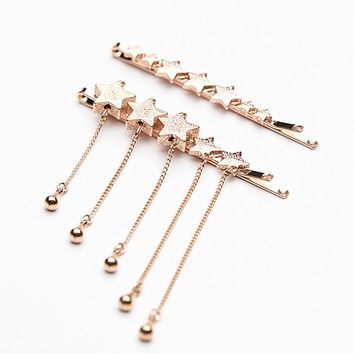 Free People Star Droplet Bobby Pin Set