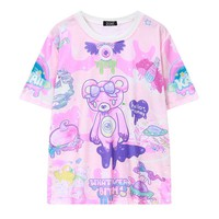 Pastel Goth Bear Monster T-shirt