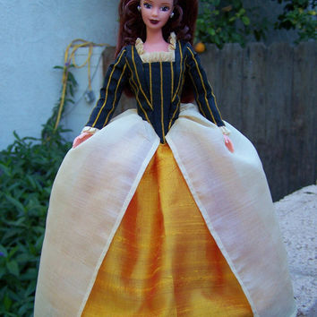 OOAK Cathy Wuthering Heights historical period gown for Barbie by Woven in Time